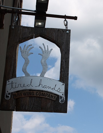 Tired Hands sign