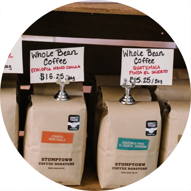coffee bags circle