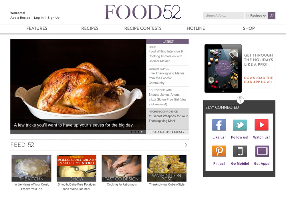 Food52 screenshot