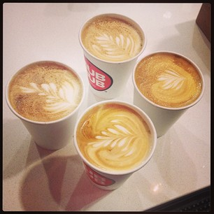 4 lattes