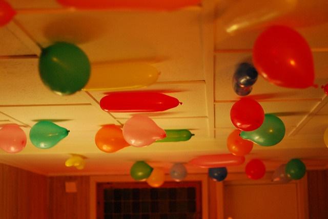 balloons on ceieling