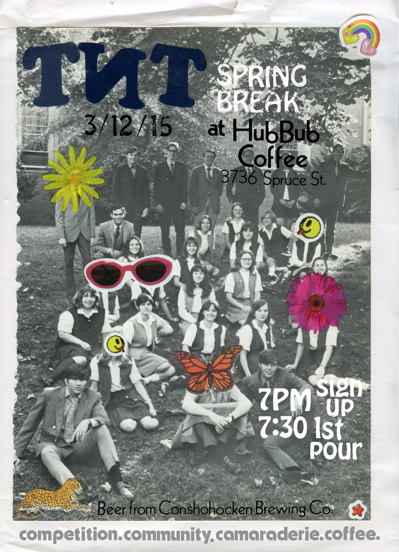 hubbub march 15 TNT poster