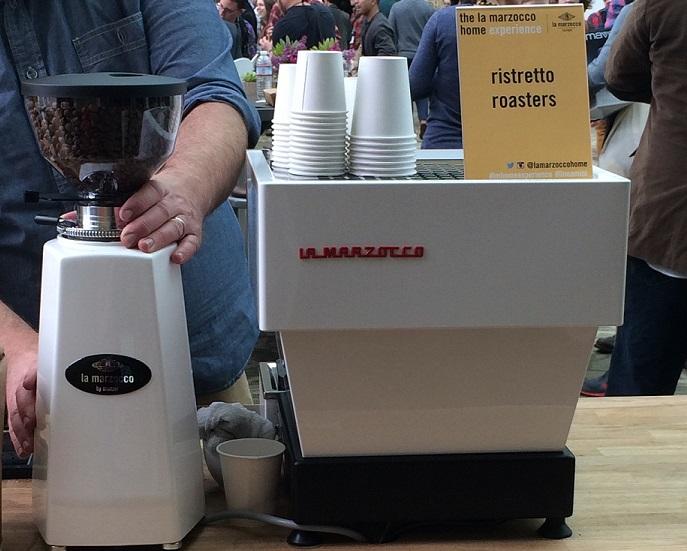 The newly introduced La Marzocco Linea Mini, a cafe-quality espresso machine for the home!