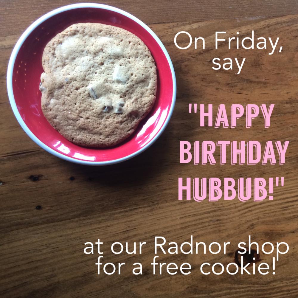 HubBub Radnor 1 yr bday