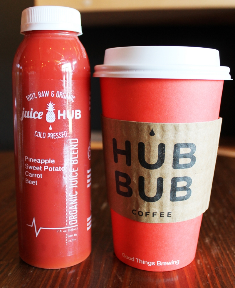 Juice + coffee = the ultimate way to start your day.