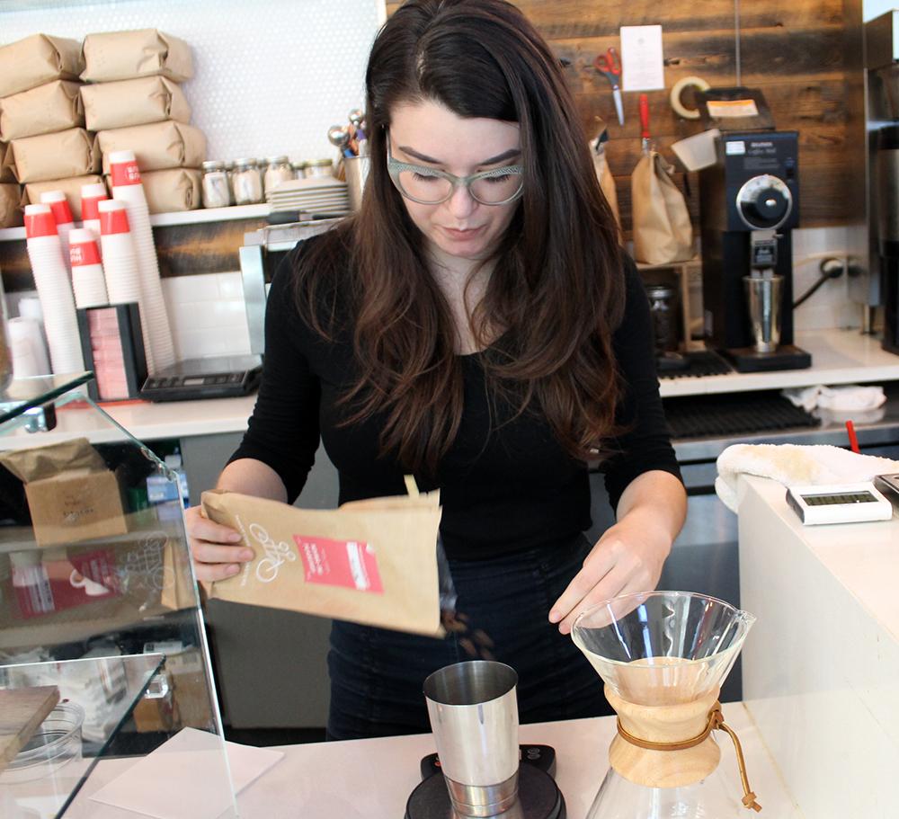 Chemex is Amanda's favorite method of coffee preparation