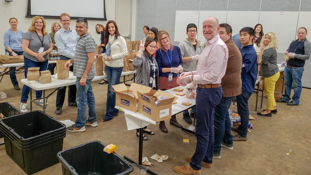 Brown Bag Lunch Program - A hands-on experience that creates camaraderie within your team while making a difference in our communities!