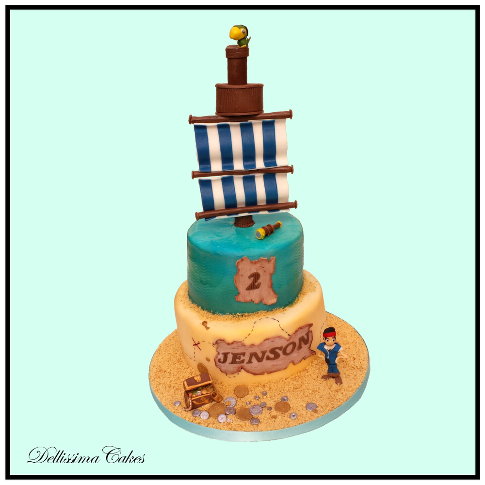 Jake The Pirate Birthday Cake Retford Birthday Cakes Dellissima