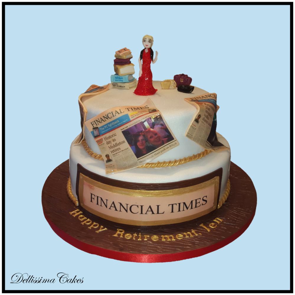 Jennys FT Retirement Cake Dellissima Cakes
