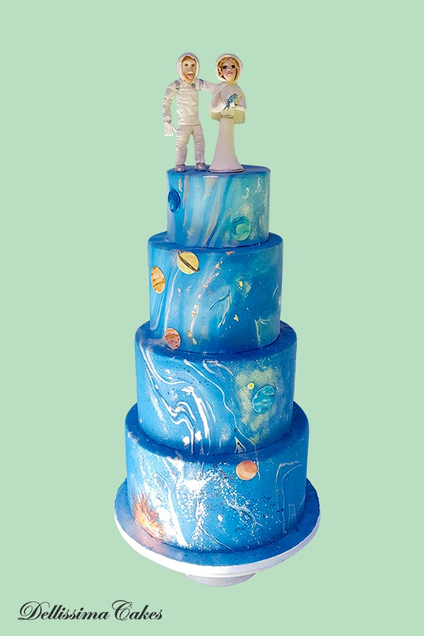 Space Wedding Cake