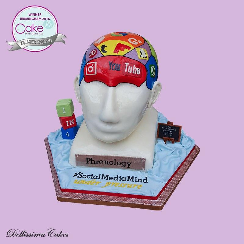 Silver Award Phrenology Cake