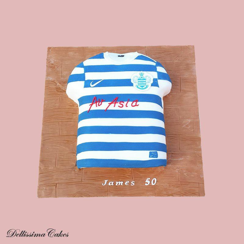 QPR Football Shirt Cake