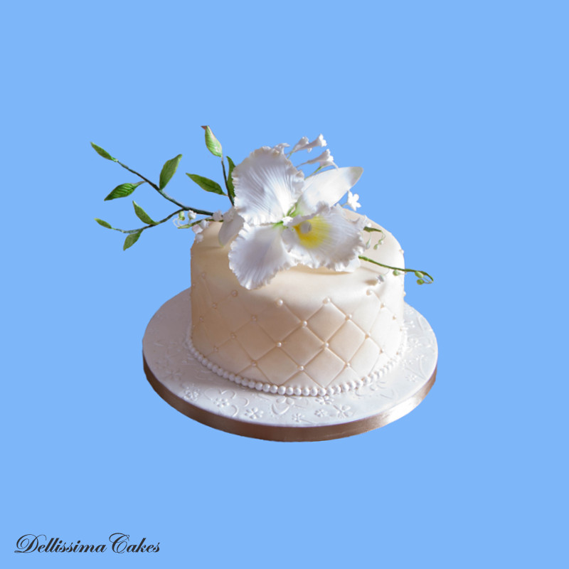 Edible Lily Wedding Cake