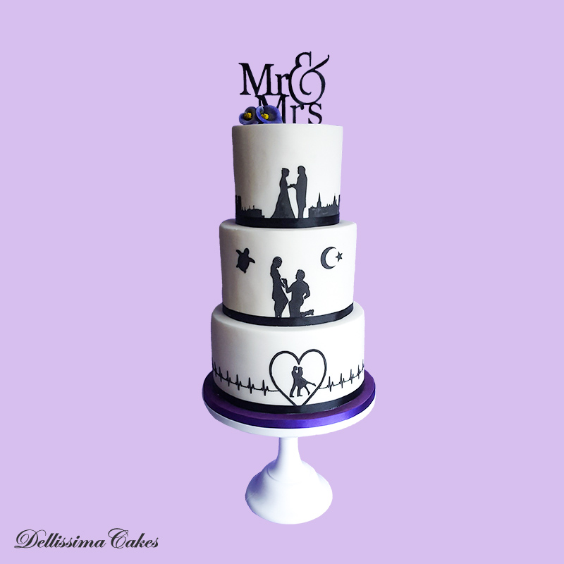 Silhouette cakes are increasingly popular