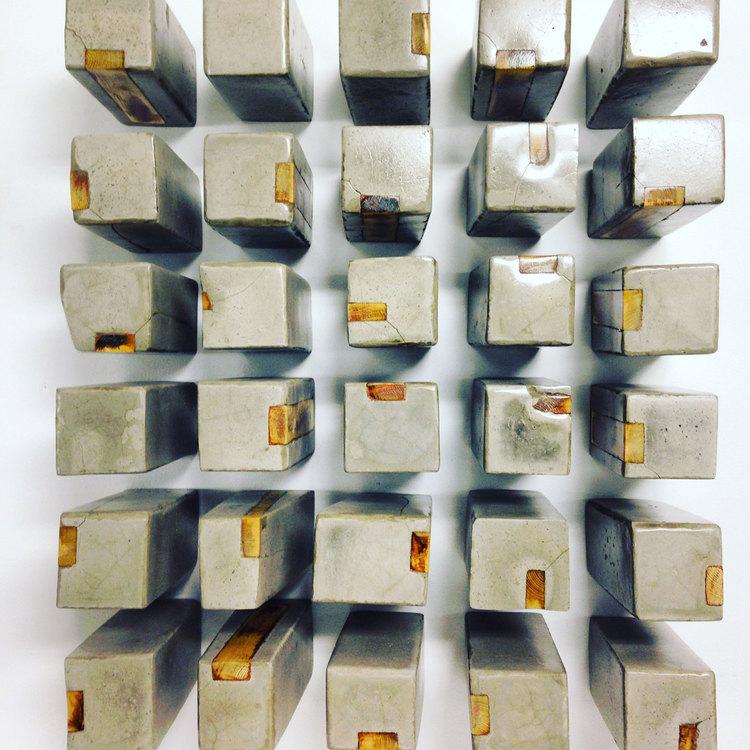 Caroline Monnet - Apparatus (materials: wood, coper, cement dimensions: 7 x 3 x 3 / limited edition of 30)