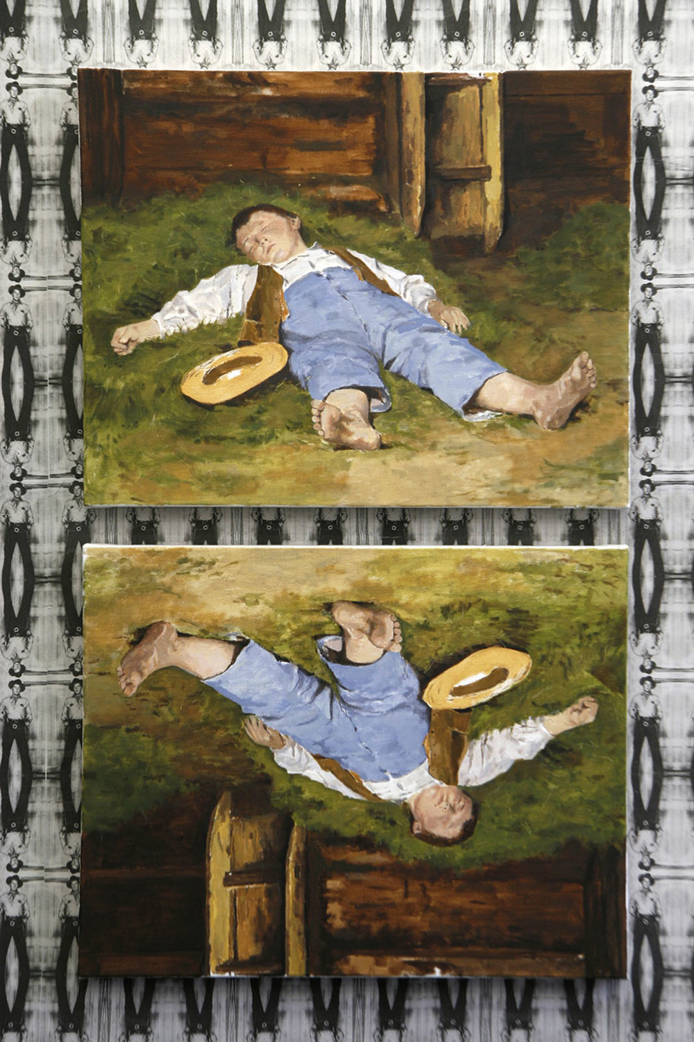 Keepin' it real (anker) 2010, oil on canvas, 2 panels(22 x 28 in each)