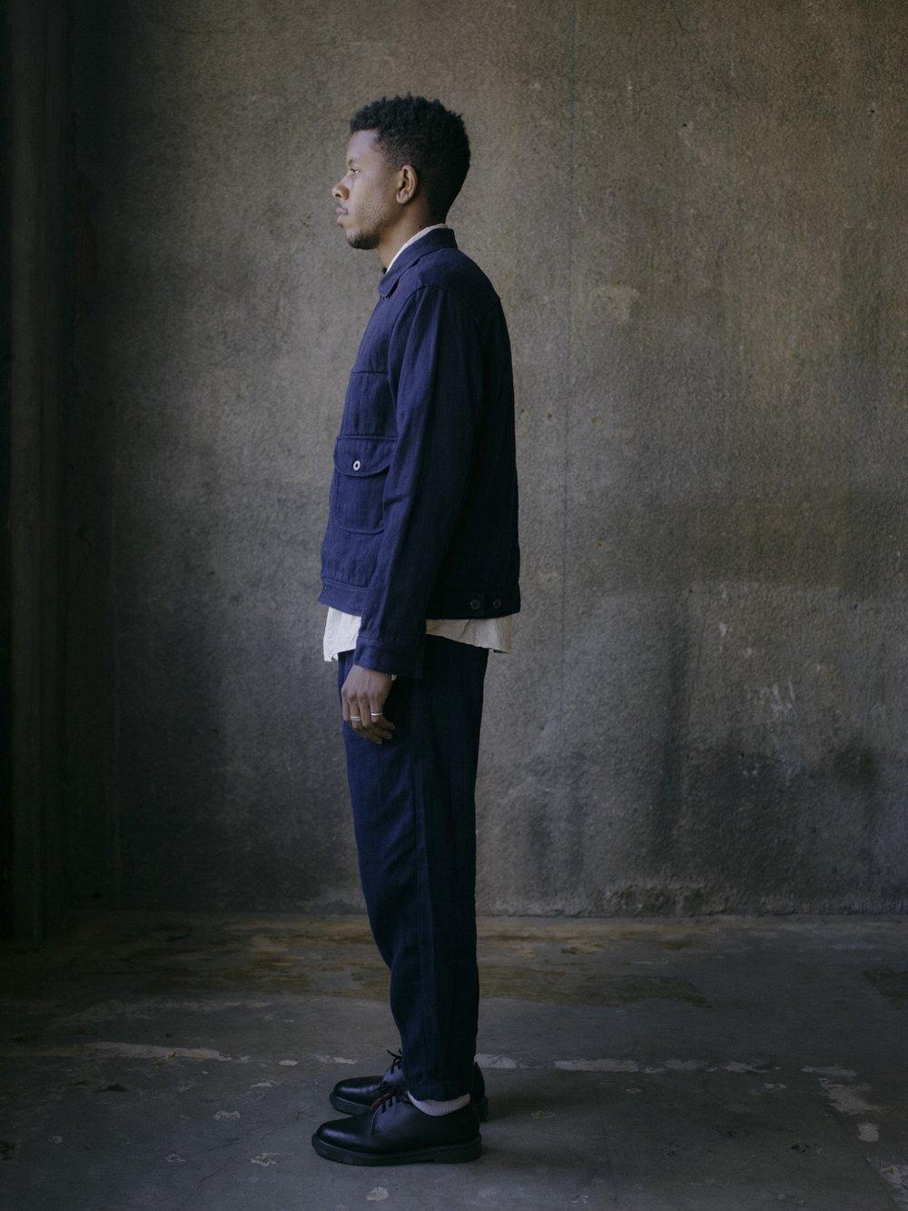 evan-kinori-pleated-jacket-french-blue-hemp-twill-4