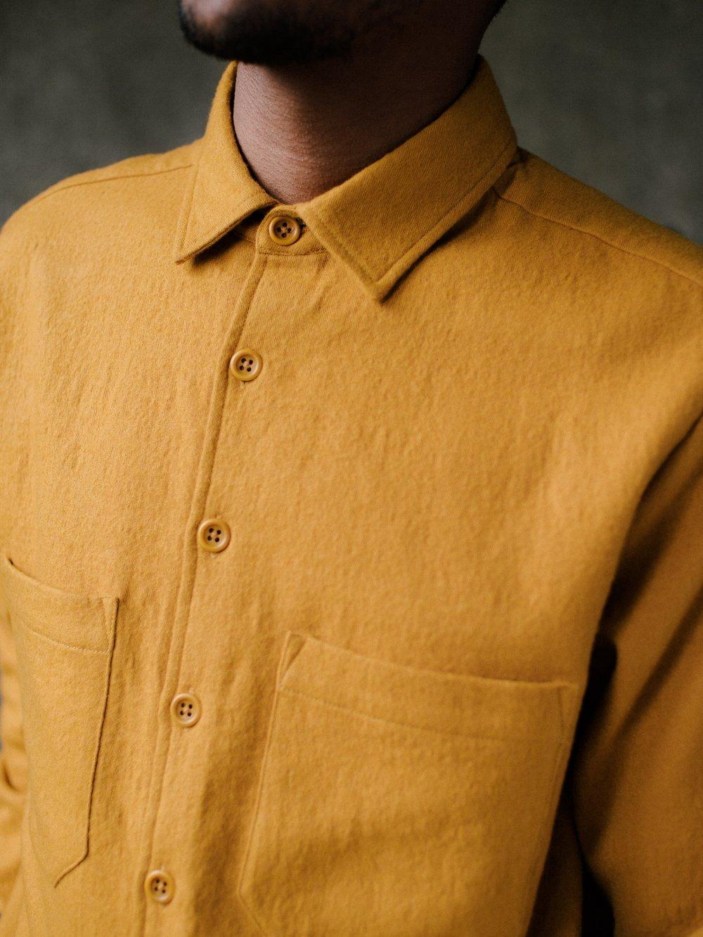 evan-kinori-two-pocket-shirt-marigold-wool-cotton-2