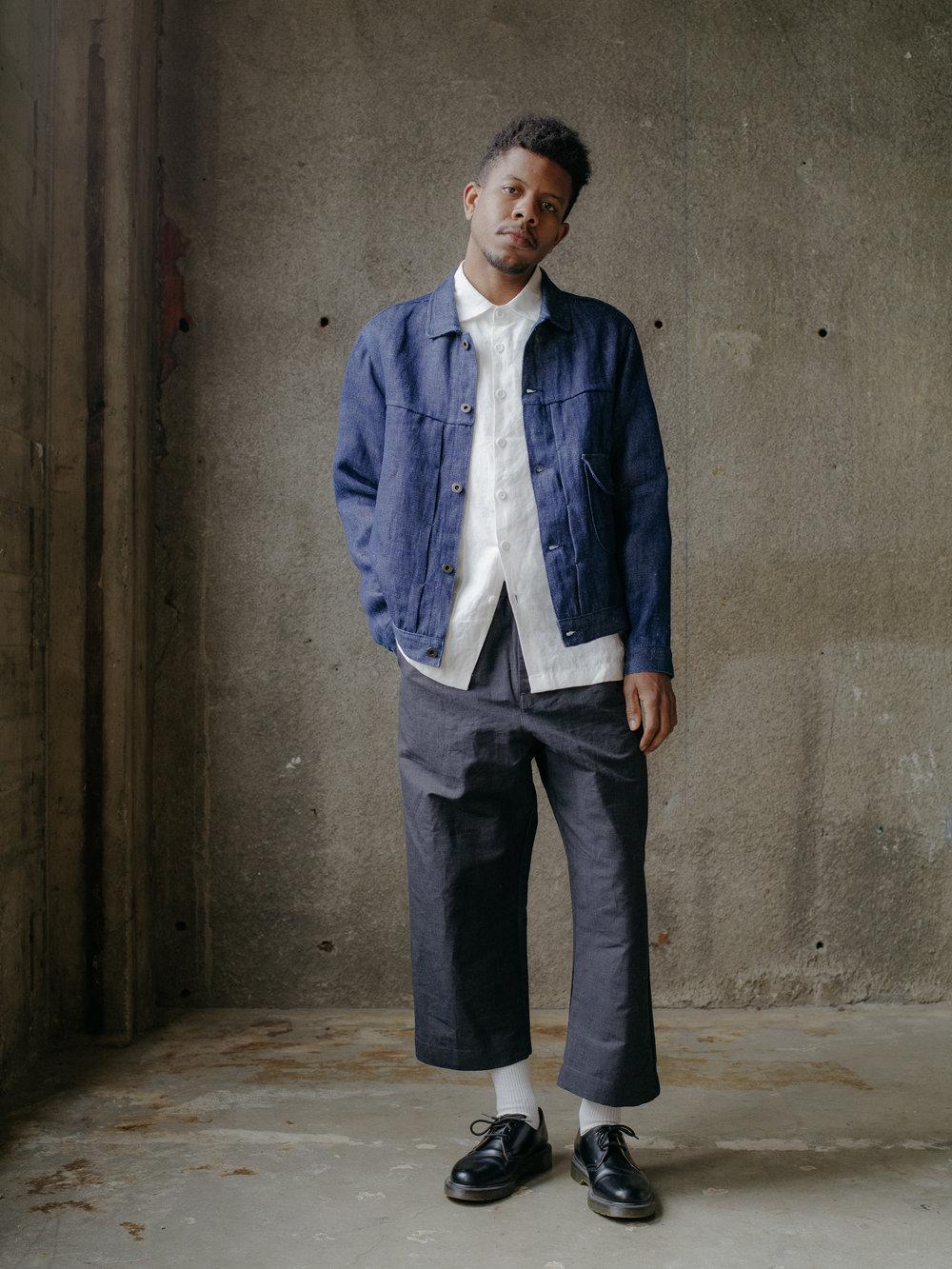 evan-kinori-pleated-jacket-hemp-denim-1
