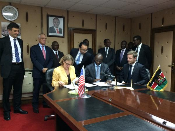 OPIC President and CEO signs commitment to provide financing for a major wind power project in Kenya.