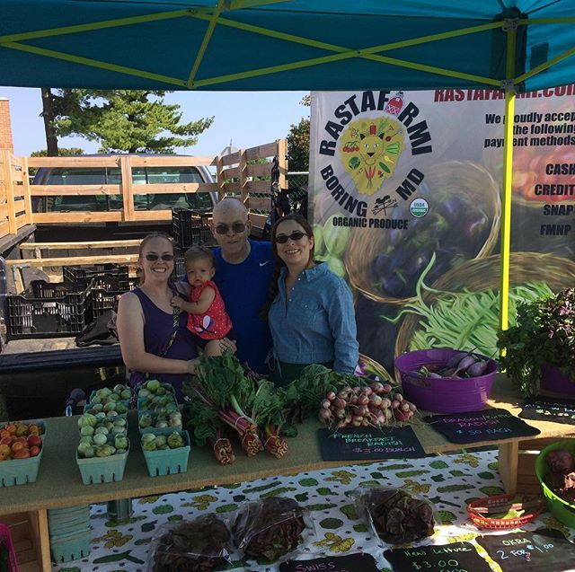 Had the best crew helping me yesterday at the Hampstead Farmers Market! We are there every Saturday from 8:30-12! #farmersmarket #organicproduce #fresh #family