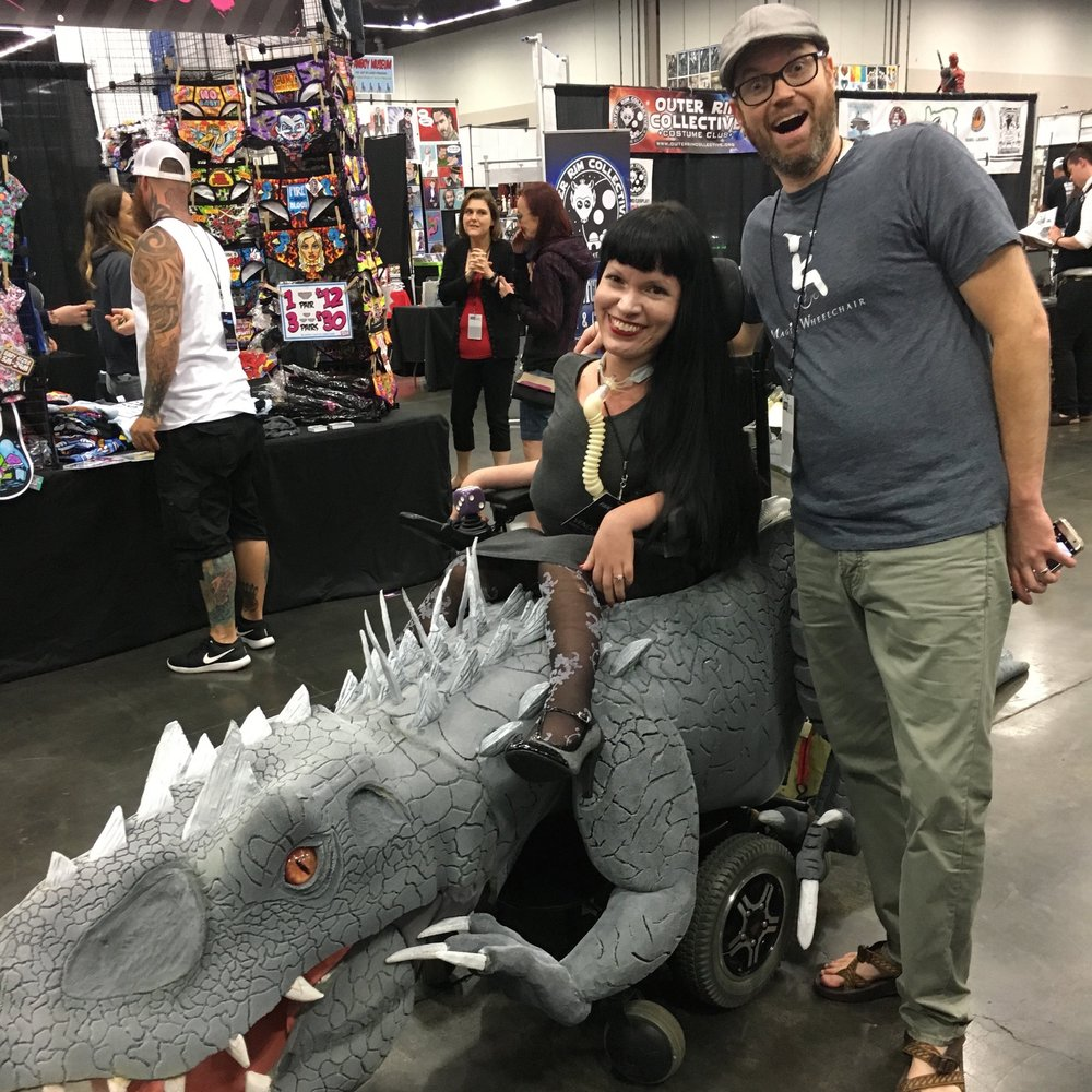 - This year has been a whirlwind of opportunities... not to mention I rode the D-Rex! I'm grateful for my fiancée, love, science, puppies, Spinraza, and all the friendships made through Magic Wheelchair.  2017 has been life changing!Christine Getman, Magic Wheelchair Development