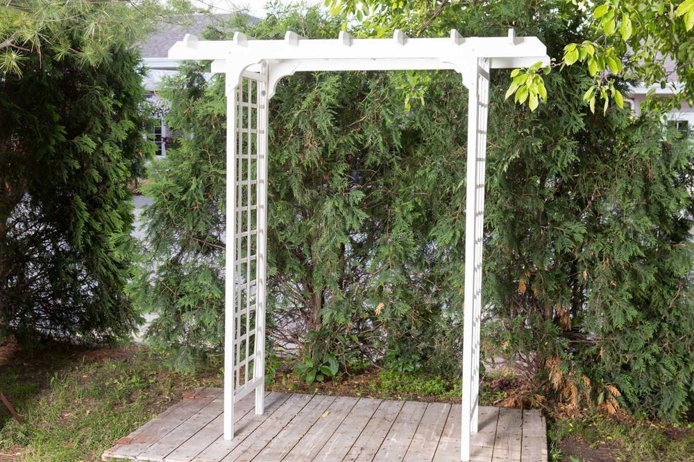 White Wooden Trellis 60-