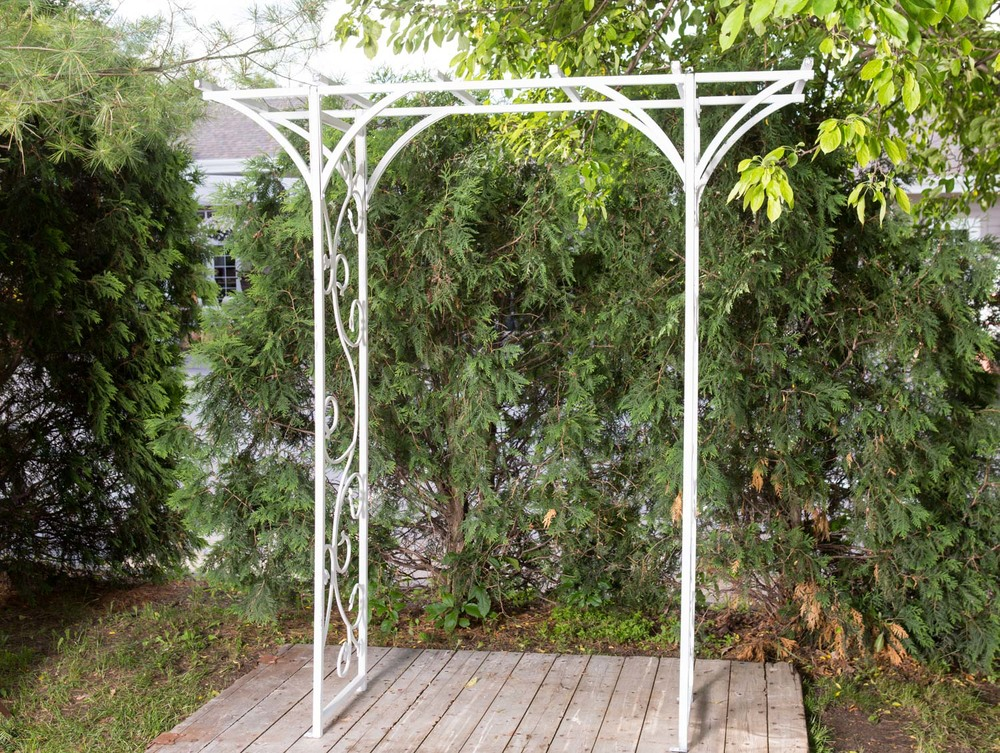 White Metal Trellis 45-