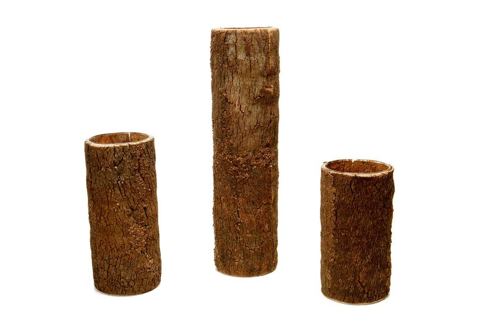 Wood Cylinder Vase 10-, 12-, 16-