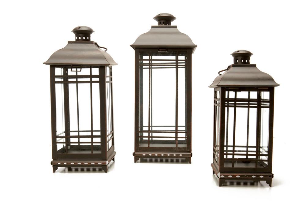 Mission Style Lanterns lg 11- med 9- sm 7-
