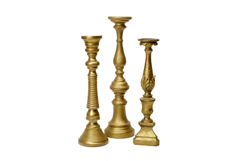 Gold Candlesticks (Various Shapes and Sizes) 4-