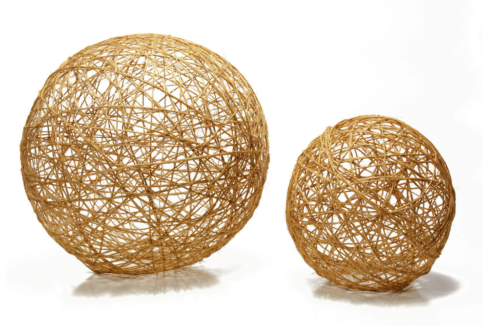 Twine Sphere lg (22 dia) 5-, sm (14 dia) 5-