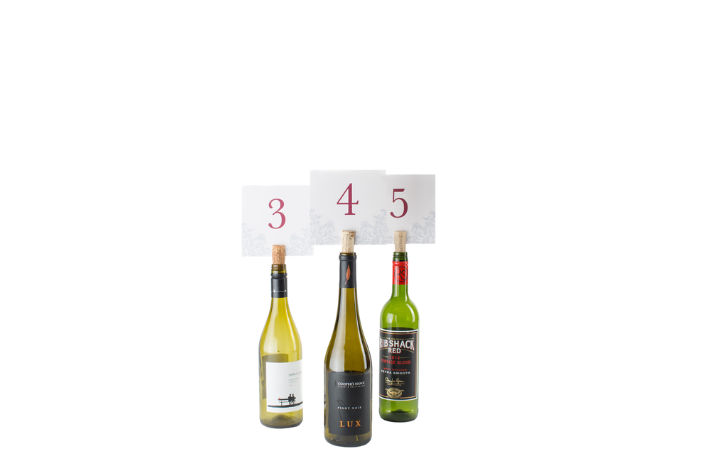 Wine Bottle Table Number 2-