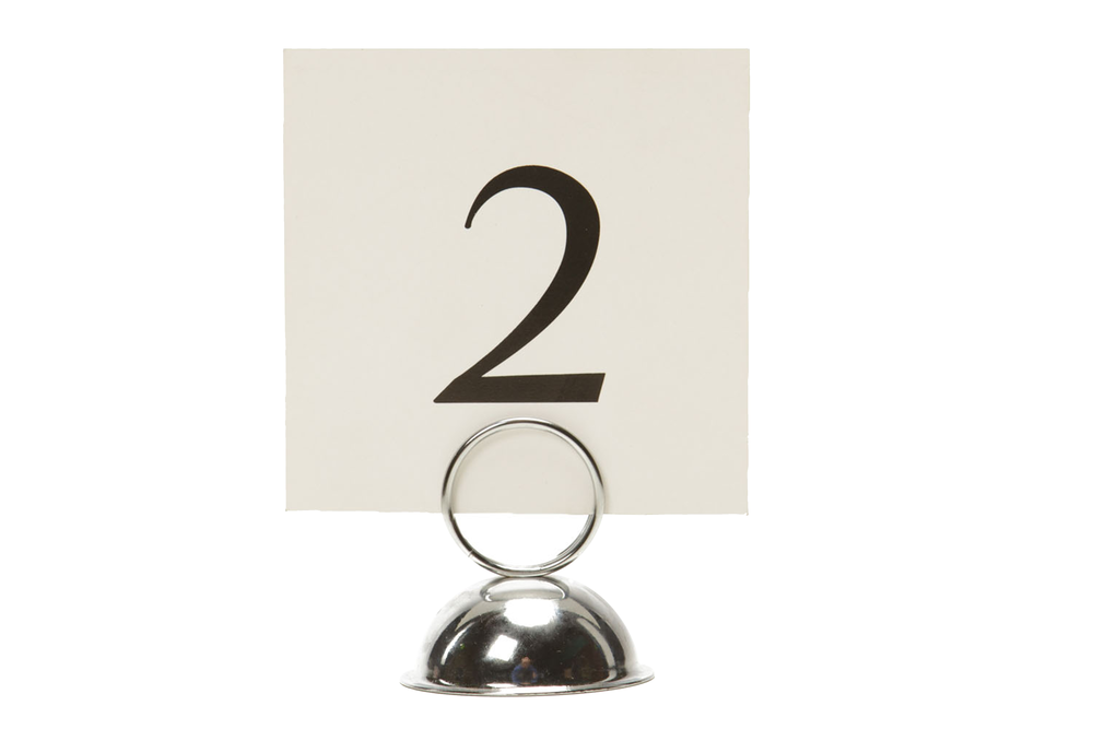 Silver Table Number Holder 1-