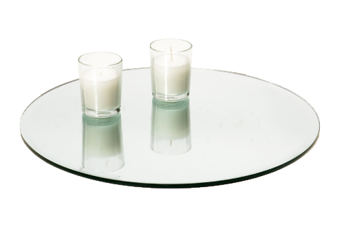 Glass Votive Cup With Candle 1.50-