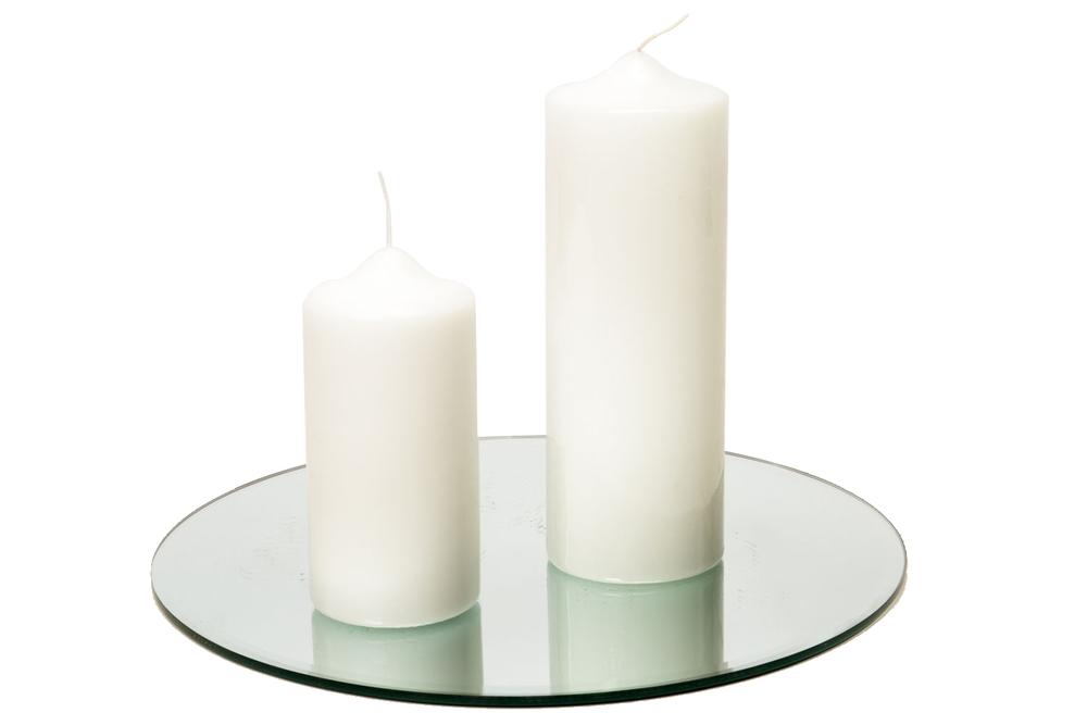 Pillar Candle lg 11-, sm 7-