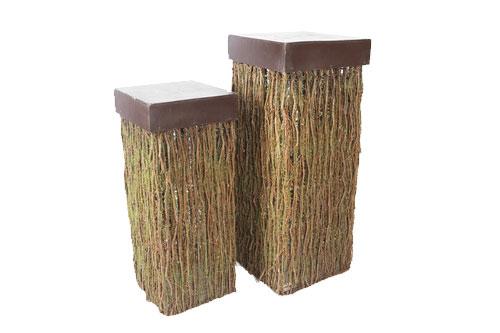 Mossy Pedestal lg 18- sm 15-
