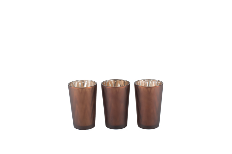 Brown Geo Votive lg .75- sm .50-