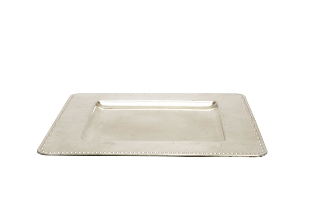Square Champagne Charger 1.25-