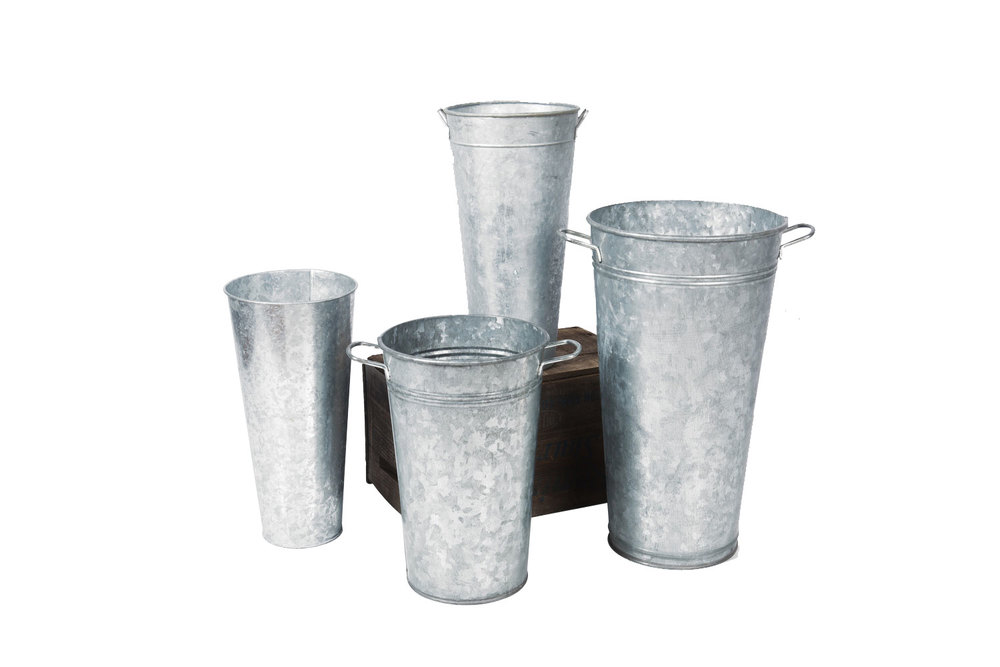 Galvanized Buckets variety of sizes 5- 6- 7-