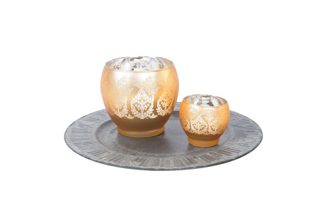 Gold Urn Compote 5- Votive 1.50-
