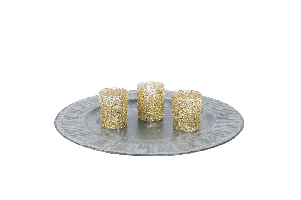 Gold Glitter Votive .50-