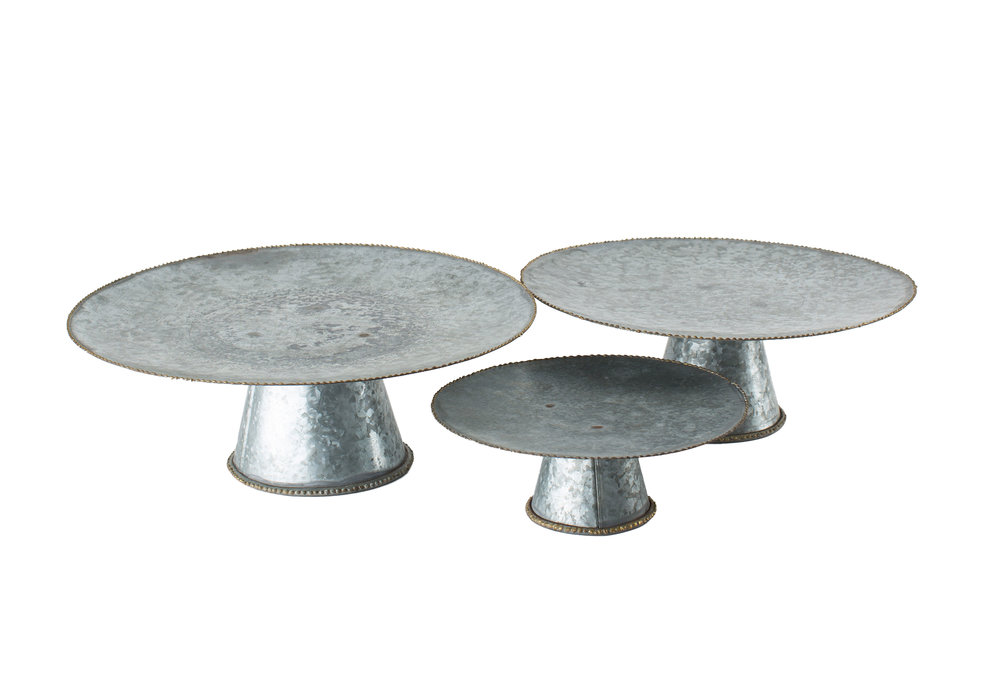 Galvanized Cake Plates 5-