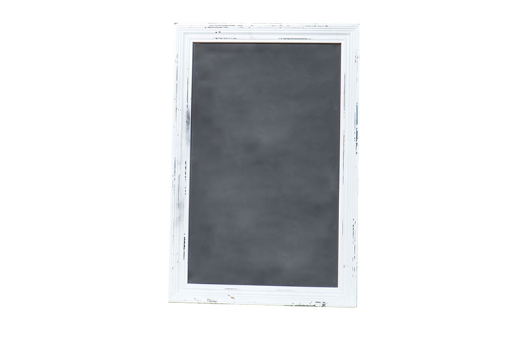 White Framed Chalkboard 8-