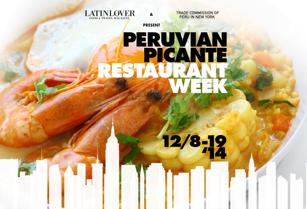 "The Trade Commission of Peru in New York and LatinLover Food & Travel Magazine invite you to the Peruvian Picante Restaurant Week in New York; a ""ten-day week"" during which eight of the best Peruvian restaurants in New York City will showcase a Prix-Fixe Dinner Menu. They will feature a special selection of the most intense and spicy dishes made with aji amarillo — one of the key ingredients of Peruvian cuisine, from Monday December 8th thru Friday December 19th, 2014. Produced by Chris Yong-Garcia"
