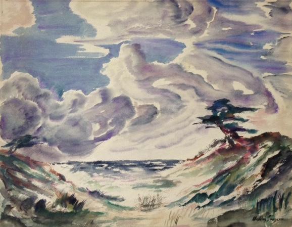 Windswept Coastal Landscape