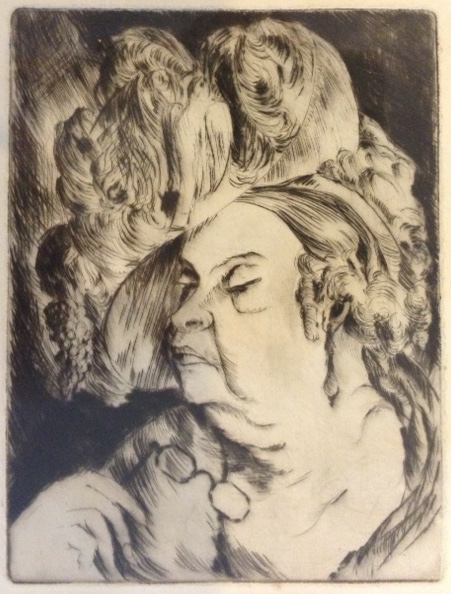 Etching - Plutocrat Woman, NY