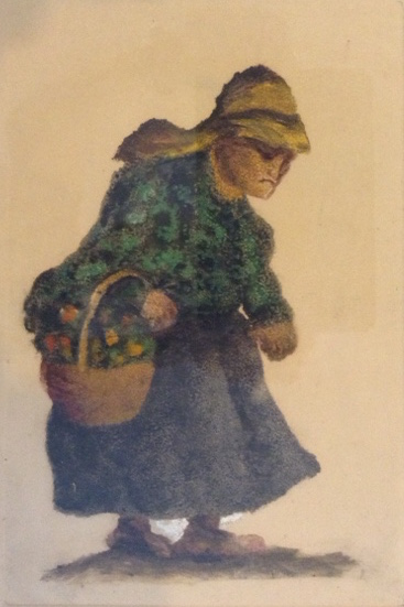 Litho - Spain - Old Lady