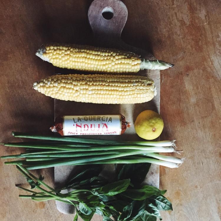 corn nduja ingredients