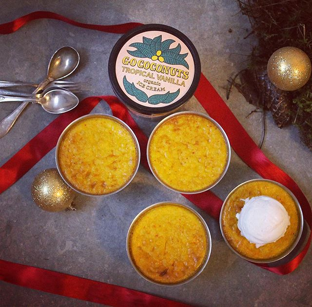 Saffron pancake with a scoop of Go coconuts vanilla puts you in that Xmas mood 🌲❤️ . . . #saffranspannkaka #xmas #dessert #icecream #glutenfree #vegan #plantbased #gococonuts